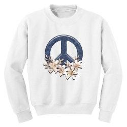 peace floral Youth Sweatshirt | Artistshot