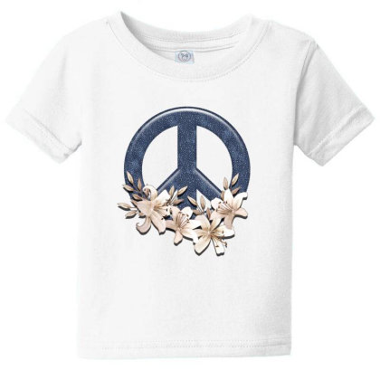 Peace Floral Baby Tee Designed By Gurkan
