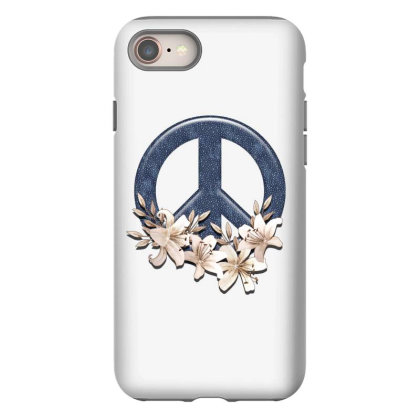 Peace Floral Iphone 8 Case Designed By Gurkan