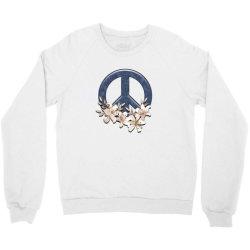 peace floral Crewneck Sweatshirt   Artistshot