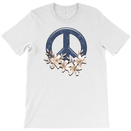 Peace Floral T-shirt Designed By Gurkan