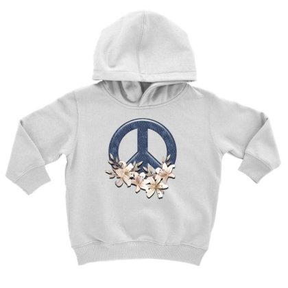 Peace Floral Toddler Hoodie Designed By Gurkan