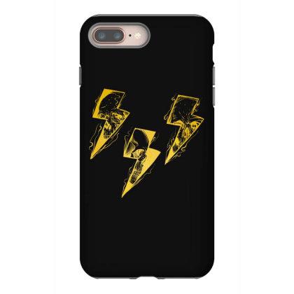 Lightning Skull Gold Iphone 8 Plus Case Designed By Gurkan
