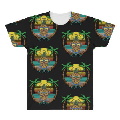 Tropical Summer All Over Men's T-shirt Designed By Gurkan