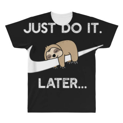 Funny Sleepy Sloth For Lazy Sloth Lover All Over Men's T-shirt Designed By Mrt90