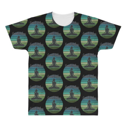 Good Vibes Yoga All Over Men's T-shirt Designed By Sengul