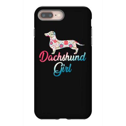 Dachshund Girl Iphone 8 Plus Case Designed By Sengul