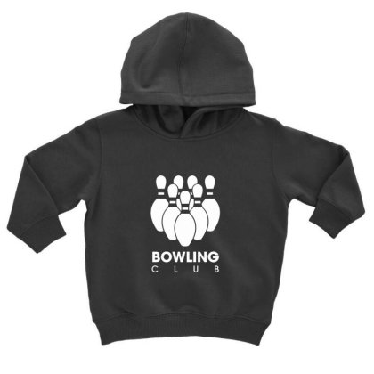 Bowling Club Toddler Hoodie Designed By Sr88
