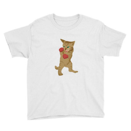 Cat Boxing Youth Tee Designed By Sr88