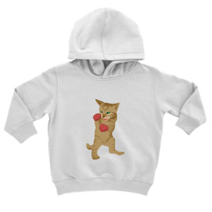 Cat Boxing Toddler Hoodie Designed By Sr88