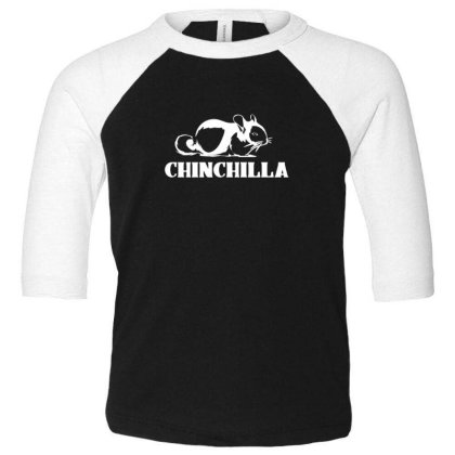 Cute Chinchilla Toddler 3/4 Sleeve Tee Designed By Sr88