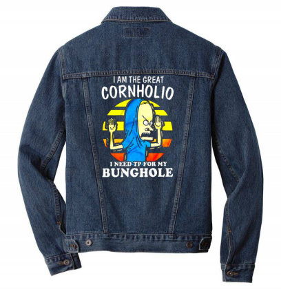 I Am The Great Cornholio I Need Tp For My Bunghole Men Denim Jacket Designed By Starks
