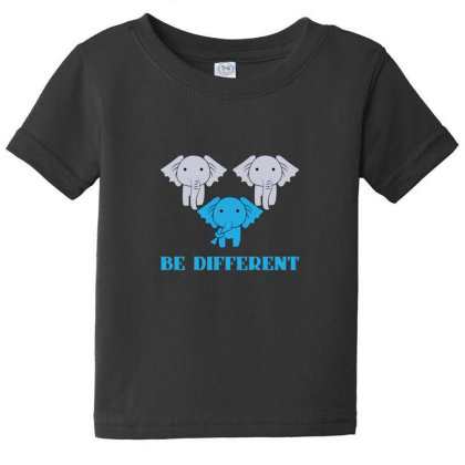 Elephant Be Different Baby Tee Designed By Sr88