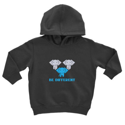 Elephant Be Different Toddler Hoodie Designed By Sr88