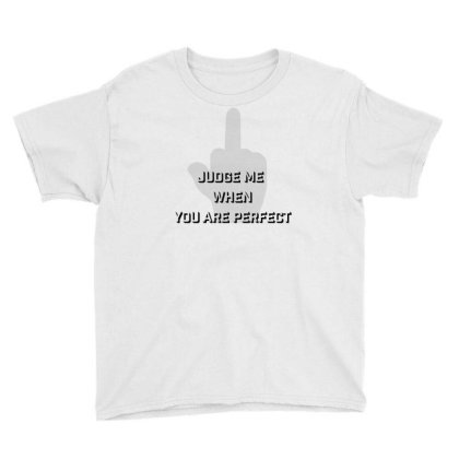 Judge Me Youth Tee Designed By Charisma