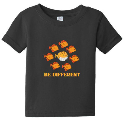 Fish Be Different Baby Tee Designed By Sr88
