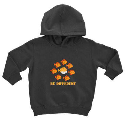 Fish Be Different Toddler Hoodie Designed By Sr88