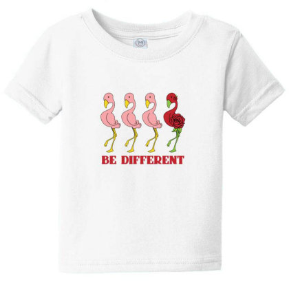 Flamingo Be Different Baby Tee Designed By Sr88