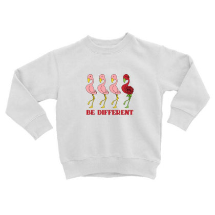 Flamingo Be Different Toddler Sweatshirt Designed By Sr88
