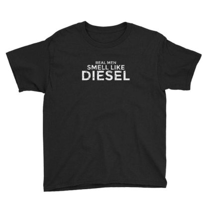 Real Men Smell Like Diesel Youth Tee Designed By Sr88