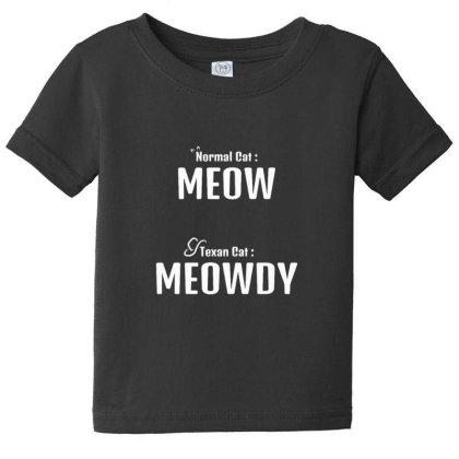 Texan Cat Meowdy Baby Tee Designed By Sr88