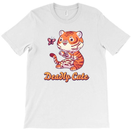 Deadly Cute Tiger T-shirt Designed By Starks