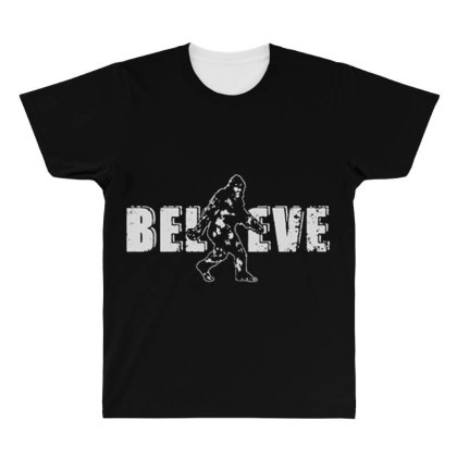 Bigfoot Believe All Over Men's T-shirt Designed By Starks
