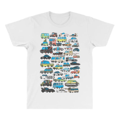 Famous Cars All Over Men's T-shirt Designed By Starks