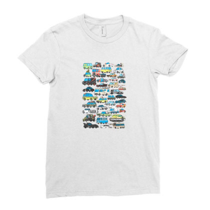 Famous Cars Ladies Fitted T-shirt Designed By Starks