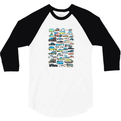 Famous Cars 3/4 Sleeve Shirt Designed By Starks