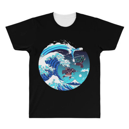 Breath Of The Great Wave All Over Men's T-shirt Designed By Starks