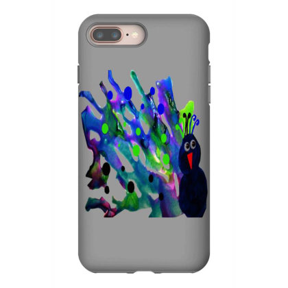 Colorful Raven Iphone 8 Plus Case Designed By Zanzzi