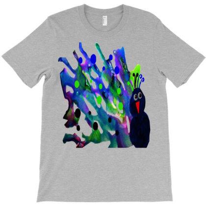 Colorful Raven T-shirt Designed By Zanzzi