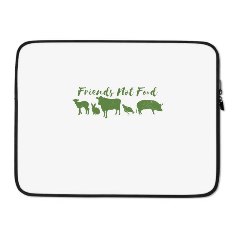 Animal Friends Vegan Laptop Sleeve | Artistshot