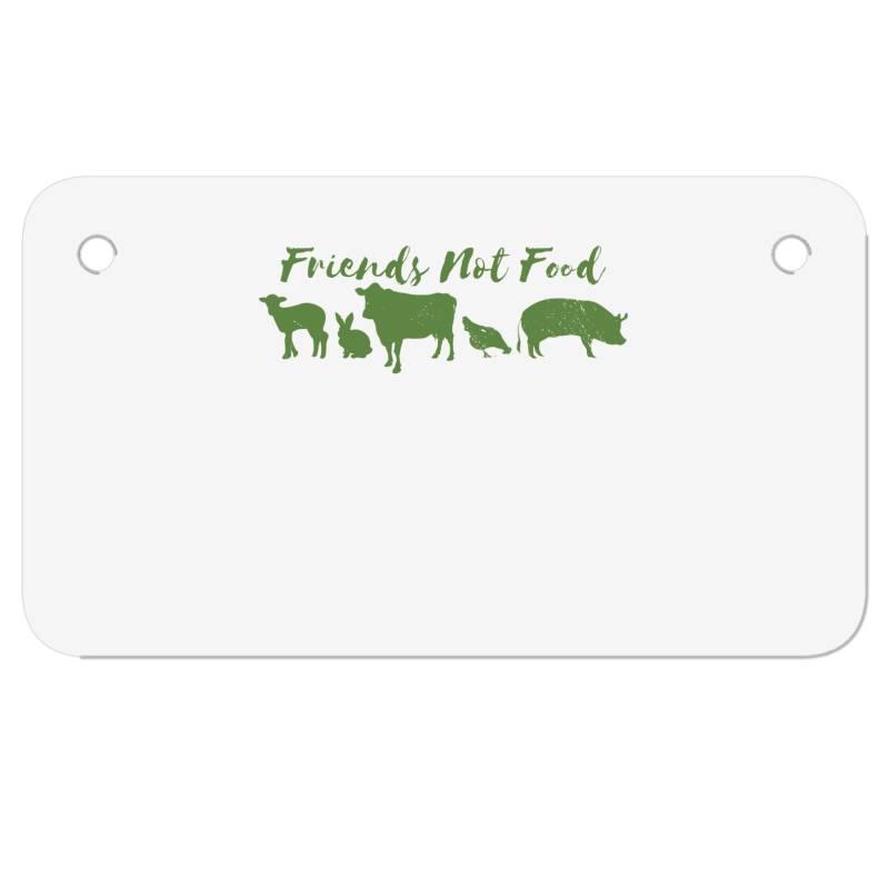 Animal Friends Vegan Motorcycle License Plate | Artistshot
