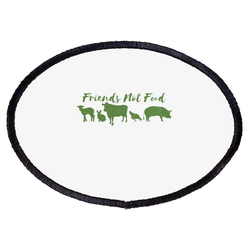 Animal Friends Vegan Oval Patch | Artistshot
