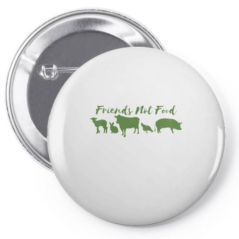 Animal Friends Vegan Pin-back Button   Artistshot