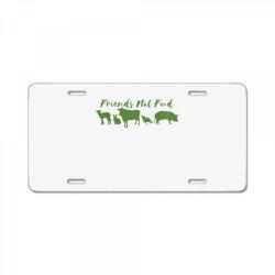 animal friends vegan License Plate | Artistshot