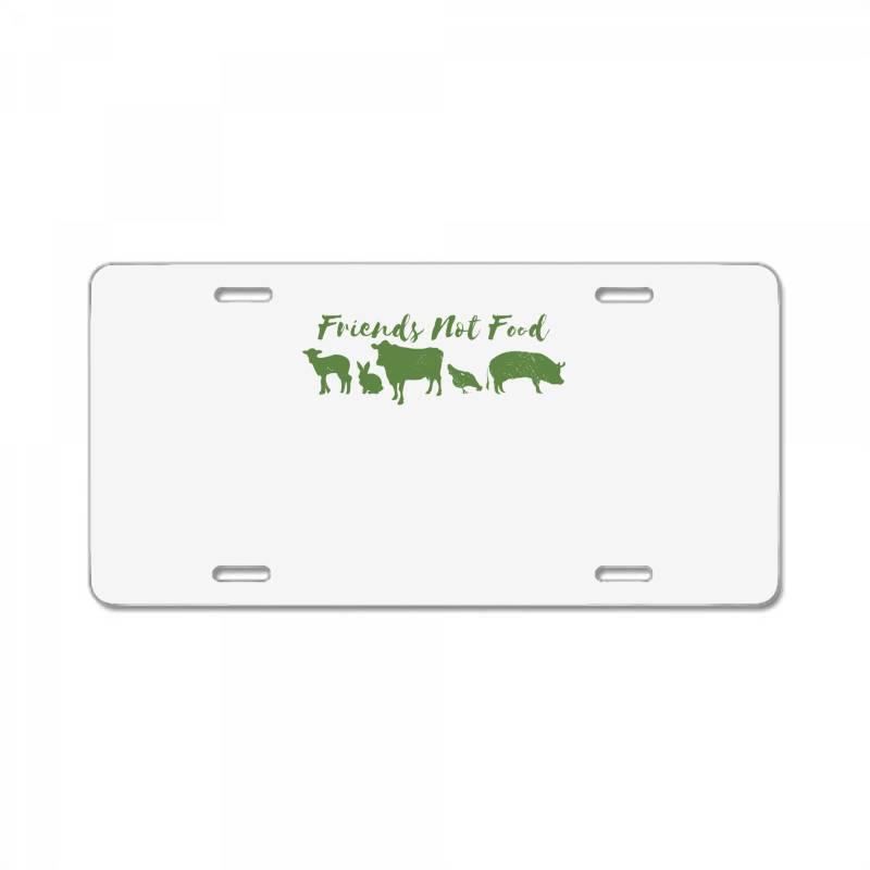 Animal Friends Vegan License Plate | Artistshot