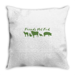 animal friends vegan Throw Pillow | Artistshot