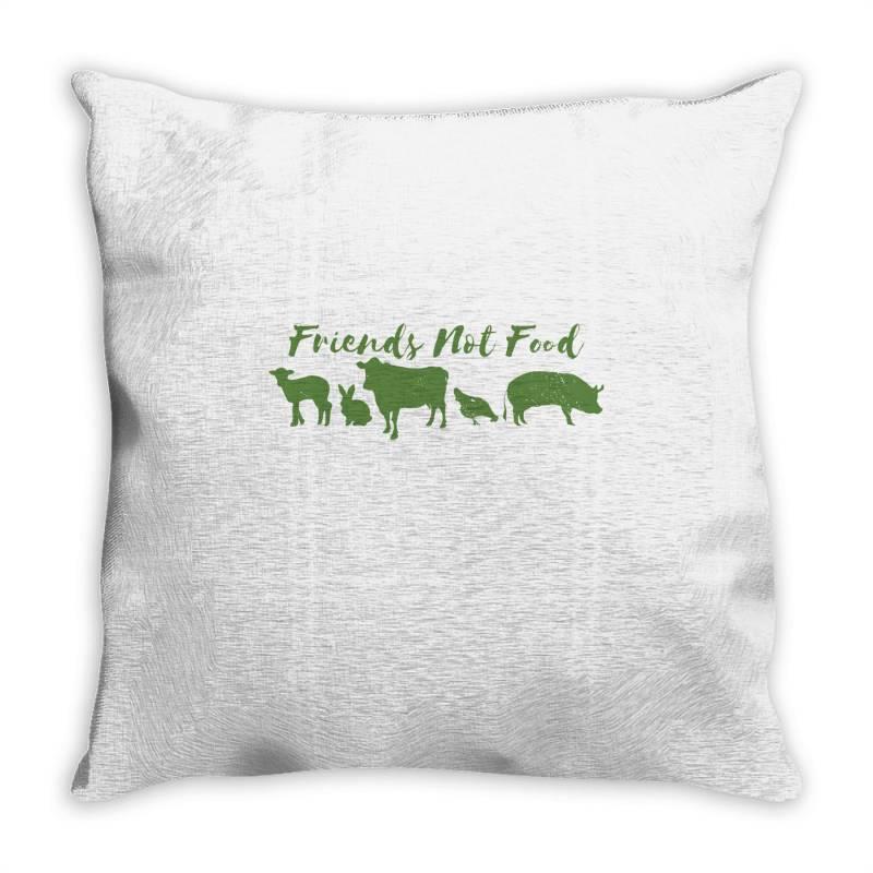 Animal Friends Vegan Throw Pillow | Artistshot