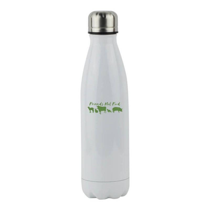Animal Friends Vegan Stainless Steel Water Bottle   Artistshot