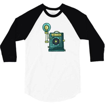 Antique Camera 3/4 Sleeve Shirt Designed By Dirjaart