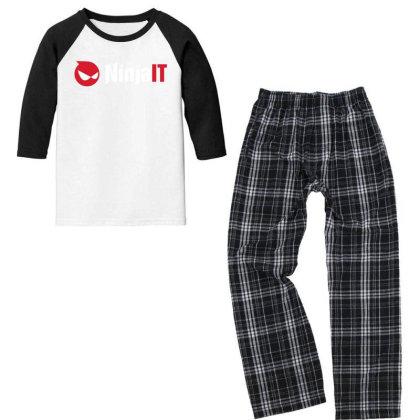 Ninja It Youth 3/4 Sleeve Pajama Set Designed By Ewanhunt