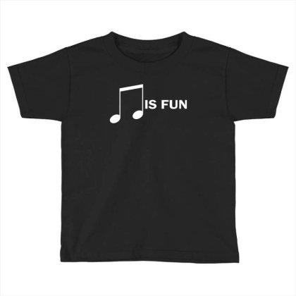 Music Is Fun Toddler T-shirt Designed By Ewanhunt