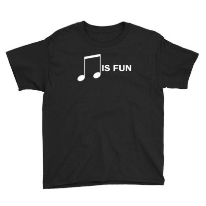Music Is Fun Youth Tee Designed By Ewanhunt