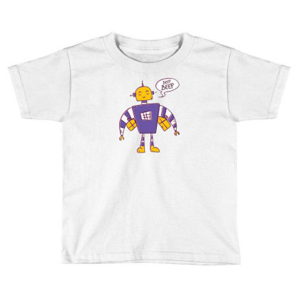 Beep Beep Robot Toddler T-shirt Designed By Dirjaart