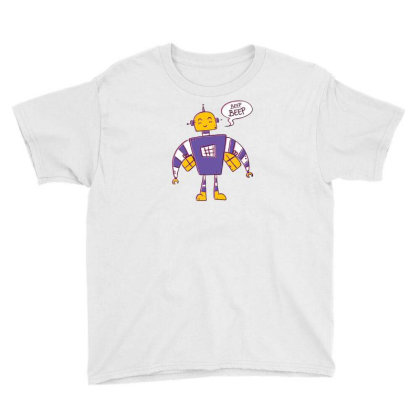 Beep Beep Robot Youth Tee Designed By Dirjaart