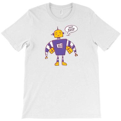 Beep Beep Robot T-shirt Designed By Dirjaart