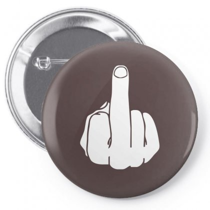 Middle Finger Pin-back Button Designed By Cuser388